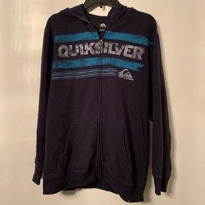 Navy Blue Quiksilver Zip-Up Hoodie